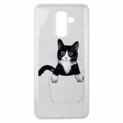 Чехол для Samsung J8 2018 Art cat in your pocket
