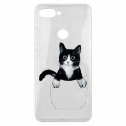 Чехол для Xiaomi Mi8 Lite Art cat in your pocket