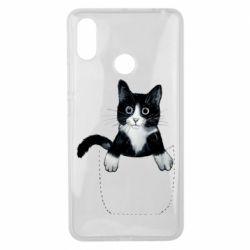 Чехол для Xiaomi Mi Max 3 Art cat in your pocket