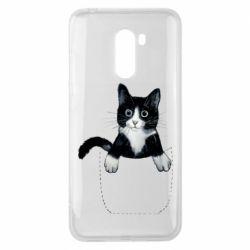 Чехол для Xiaomi Pocophone F1 Art cat in your pocket