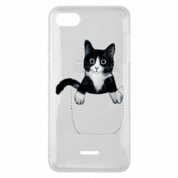 Чехол для Xiaomi Redmi 6A Art cat in your pocket