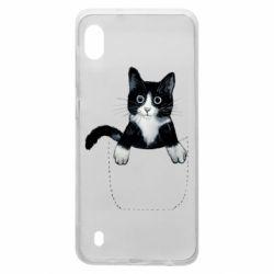 Чехол для Samsung A10 Art cat in your pocket
