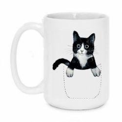 Кружка 420ml Art cat in your pocket