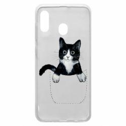 Чехол для Samsung A30 Art cat in your pocket