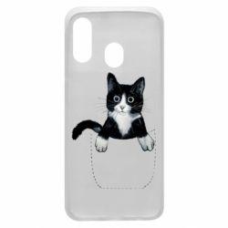 Чехол для Samsung A40 Art cat in your pocket