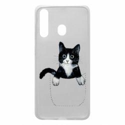 Чехол для Samsung A60 Art cat in your pocket