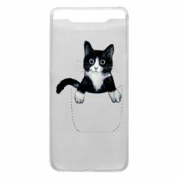 Чехол для Samsung A80 Art cat in your pocket