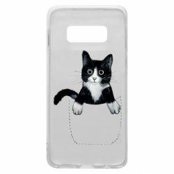 Чехол для Samsung S10e Art cat in your pocket