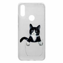 Чехол для Xiaomi Redmi 7 Art cat in your pocket