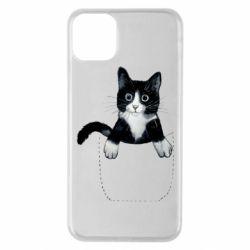 Чехол для iPhone 11 Pro Max Art cat in your pocket