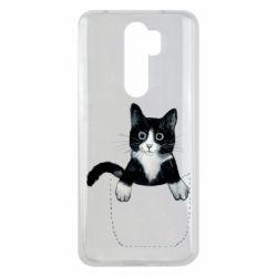 Чехол для Xiaomi Redmi Note 8 Pro Art cat in your pocket