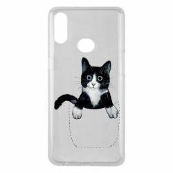 Чехол для Samsung A10s Art cat in your pocket