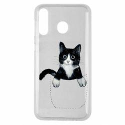 Чехол для Samsung M30 Art cat in your pocket