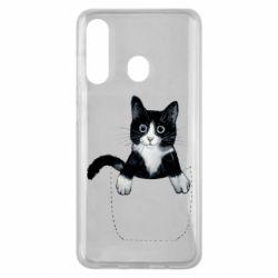 Чехол для Samsung M40 Art cat in your pocket