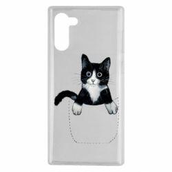 Чехол для Samsung Note 10 Art cat in your pocket