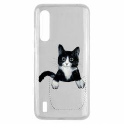 Чехол для Xiaomi Mi9 Lite Art cat in your pocket