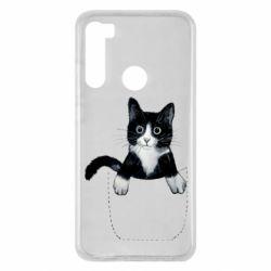 Чехол для Xiaomi Redmi Note 8 Art cat in your pocket