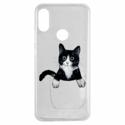 Чехол для Xiaomi Redmi Note 7 Art cat in your pocket