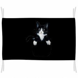 Флаг Art cat in your pocket