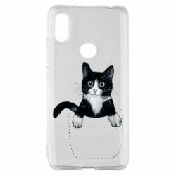 Чехол для Xiaomi Redmi S2 Art cat in your pocket