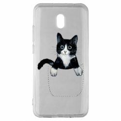 Чехол для Xiaomi Redmi 8A Art cat in your pocket