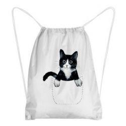 Рюкзак-мешок Art cat in your pocket