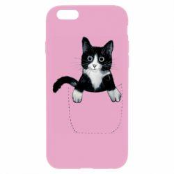 Чехол для iPhone 6 Plus/6S Plus Art cat in your pocket