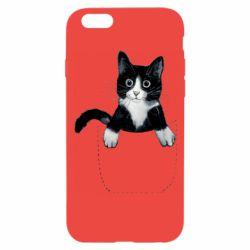 Чехол для iPhone 6/6S Art cat in your pocket