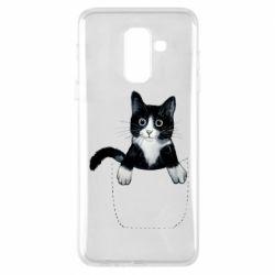 Чехол для Samsung A6+ 2018 Art cat in your pocket