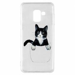 Чехол для Samsung A8 2018 Art cat in your pocket