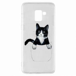 Чехол для Samsung A8+ 2018 Art cat in your pocket