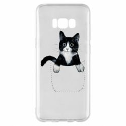 Чехол для Samsung S8+ Art cat in your pocket