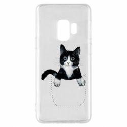 Чехол для Samsung S9 Art cat in your pocket