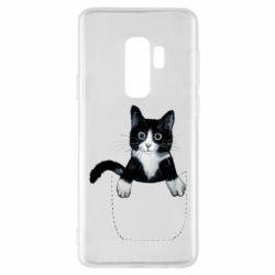 Чехол для Samsung S9+ Art cat in your pocket
