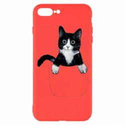 Чехол для iPhone 8 Plus Art cat in your pocket