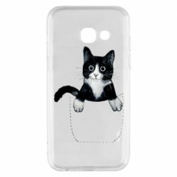 Чехол для Samsung A3 2017 Art cat in your pocket