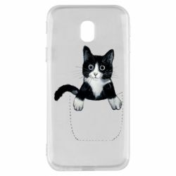 Чехол для Samsung J3 2017 Art cat in your pocket