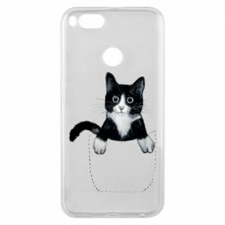 Чехол для Xiaomi Mi A1 Art cat in your pocket