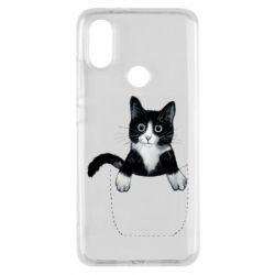 Чехол для Xiaomi Mi A2 Art cat in your pocket