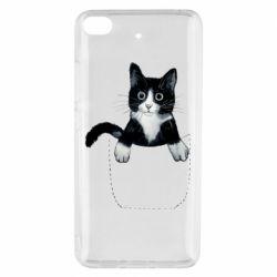 Чехол для Xiaomi Mi 5s Art cat in your pocket