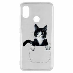 Чехол для Xiaomi Mi8 Art cat in your pocket