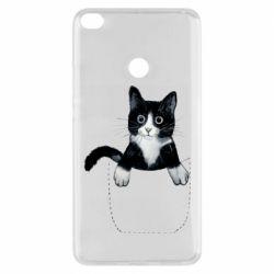 Чехол для Xiaomi Mi Max 2 Art cat in your pocket