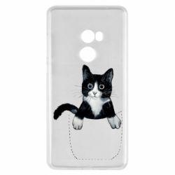 Чехол для Xiaomi Mi Mix 2 Art cat in your pocket