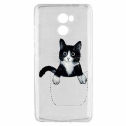 Чехол для Xiaomi Redmi 4 Art cat in your pocket