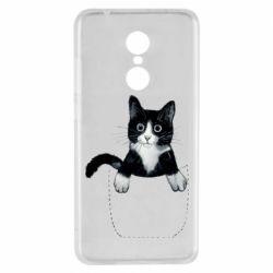 Чехол для Xiaomi Redmi 5 Art cat in your pocket