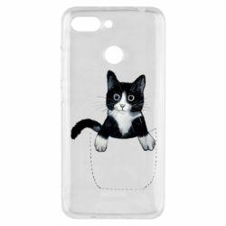 Чехол для Xiaomi Redmi 6 Art cat in your pocket