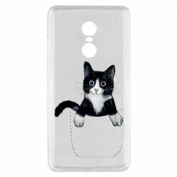 Чехол для Xiaomi Redmi Note 4x Art cat in your pocket