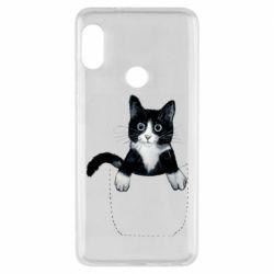 Чехол для Xiaomi Redmi Note 5 Art cat in your pocket