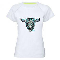 Жіноча спортивна футболка Art horns