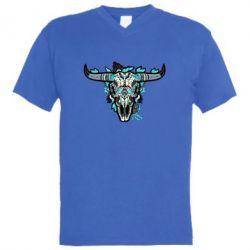 Чоловіча футболка з V-подібним вирізом Art horns